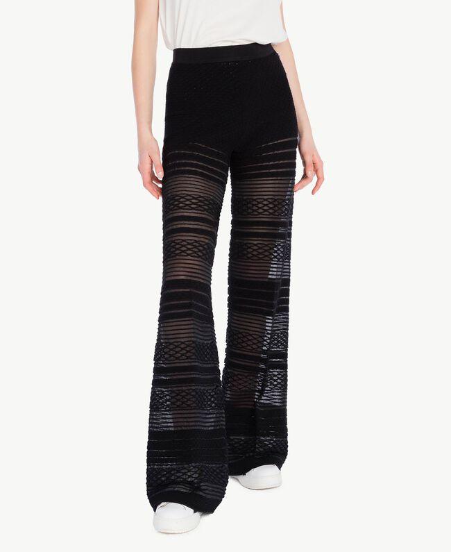 Pantalon viscose Noir Femme PS8363-01