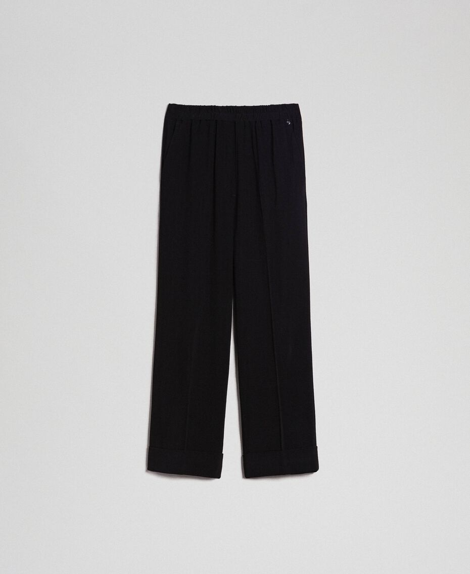 Georgette trousers Black Woman 192TP2387-0S