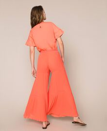 Pleated georgette trousers Antique White Woman 201TT2094-04