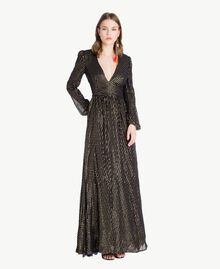 Robe longue Jacquard Noir / Or Femme TS8267-01