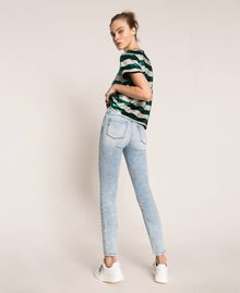 Push up jeans with five pockets Denim Blue Woman 201MP227K-03