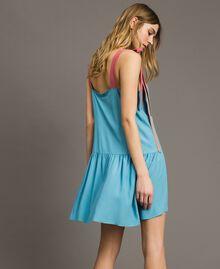 """Colour block mini dress Multicolour """"Tender Rose"""" Pink / Daylight Blue / Porcelain Beige Woman 191LM2HMM-03"""