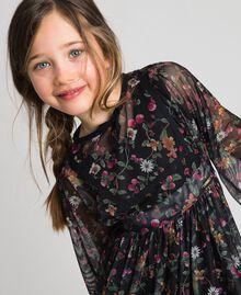 Robe en tulle avec imprimé floral Imprimé Fraises et Framboises Enfant 192GJ2505-04