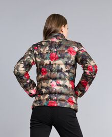 Printed light padded jacket Camouflage Flower Rose Print Woman JA82AN-03