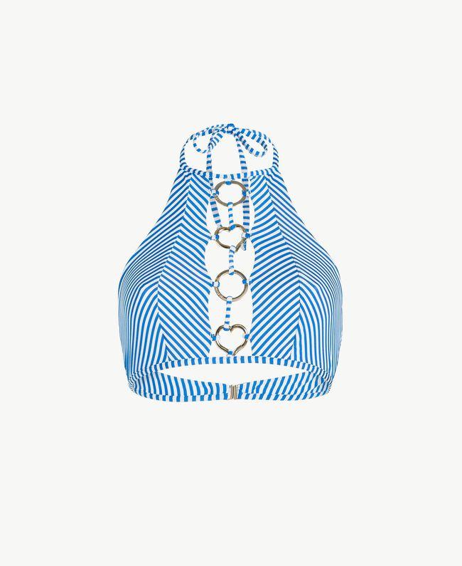 Top rayures Rayure Lurex Bleu «Lagon» Femme MS8CYY-01