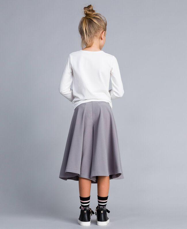Jupe pantalon en crêpe Grey Stone Enfant GA82DC-04