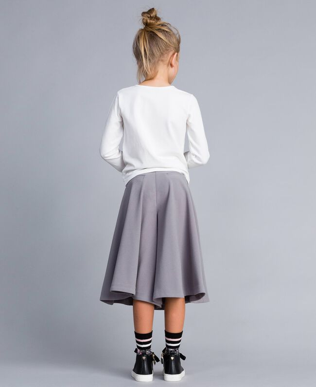 Gonna pantalone in crêpe Grey Stone Bambina GA82DC-04