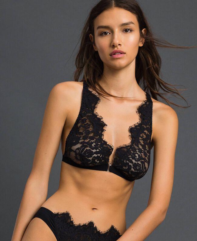 "Triangle bra with lace ""Cherry Coke"" Fuchsia Woman 192LI6122-01"