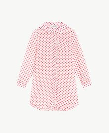 "Polka dot tunic ""Papyrus"" White Polka Dot Print / Pomegranate Red Child GS82PP-01"