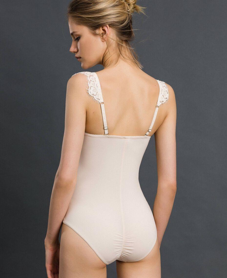Body bandeau avec dentelle Crème Femme 192LI6100-03