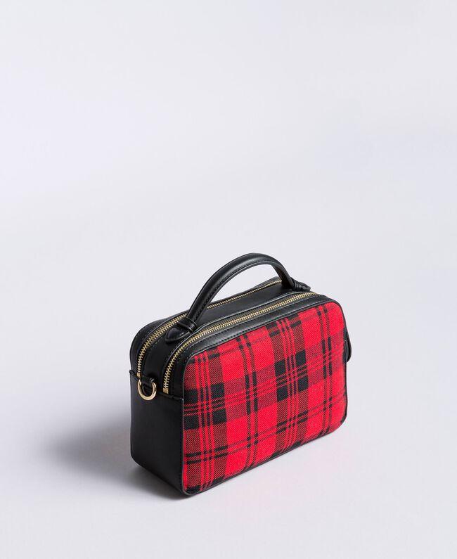 Sac à bandoulière en tartan et similicuir Imprimé Tartan Rouge Coquelicot Femme RA8TBP-03