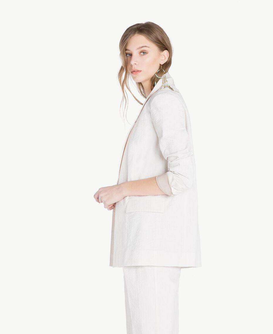 "Cotton jacket Light ""Dune"" Beige Stripes Woman TS82Z1-02"