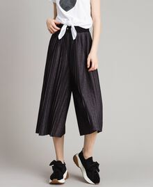 Pantaloni cropped in lurex Nero Donna 191LB23AA-06