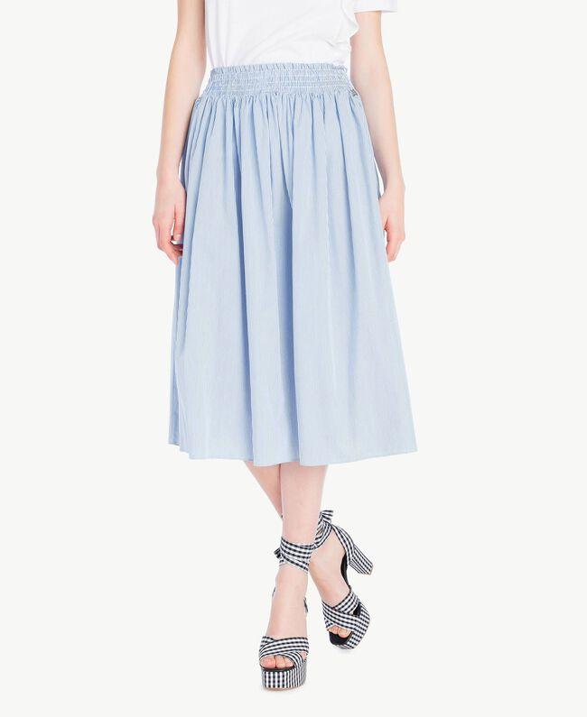 Mid-length skirt Multicolour Topaz Light Blue Pin Stripes Woman JS82DT-01