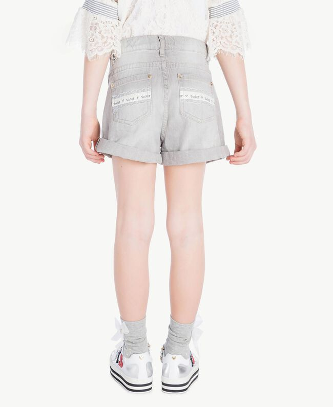 Short denim Denim Gris Clair Enfant GS82FN-04