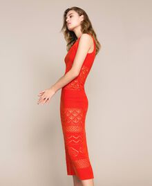 "Openwork long dress with sequins ""Ace"" Orange Woman 201LM3AAA-05"