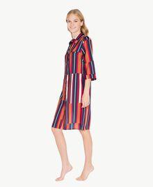 """Printed nightdress Tobacco Stripe / """"Love Bites"""" Fuchsia Female IA7RNN-03"""
