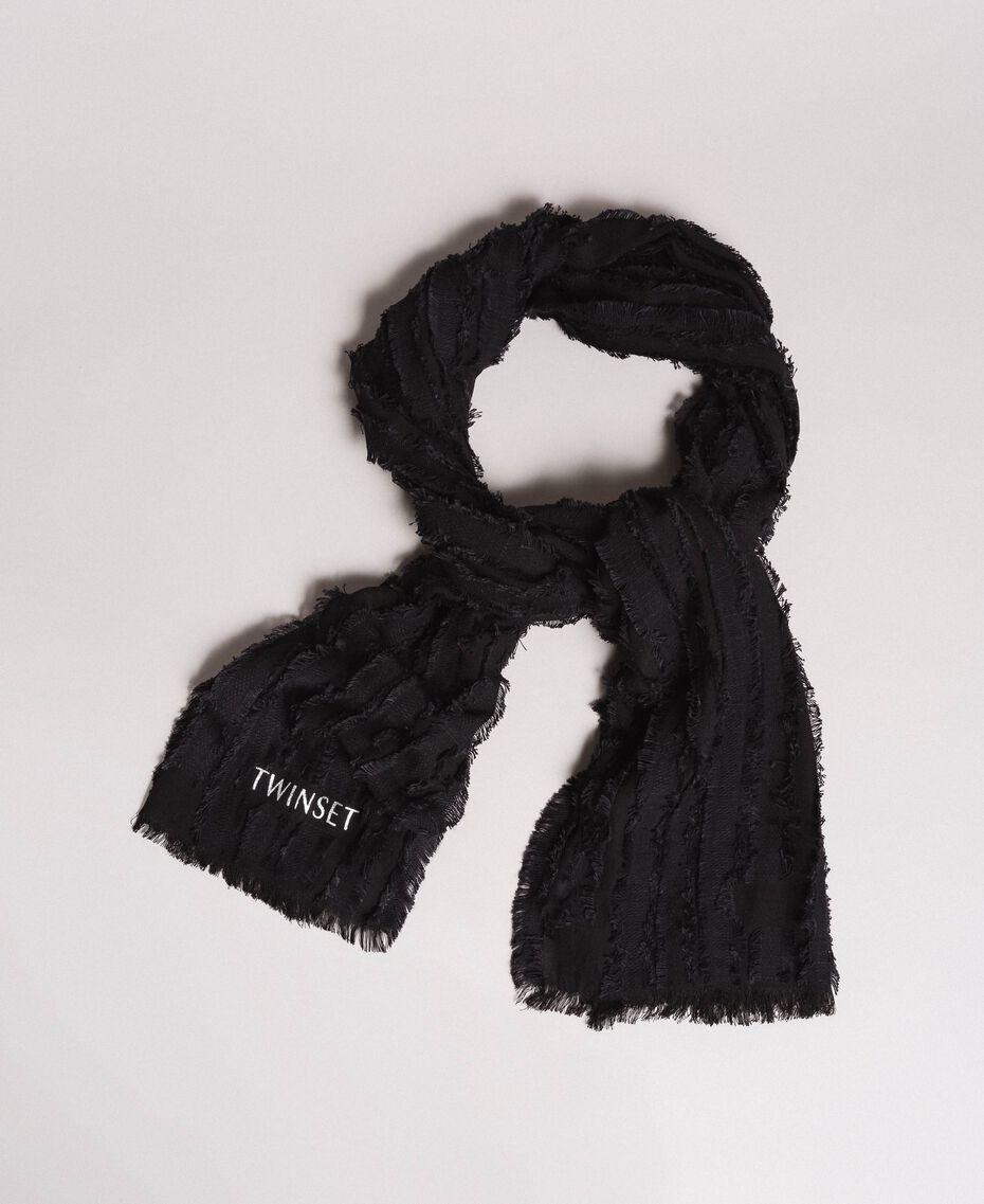 Écharpe en coton Noir Femme 191TA436A-01
