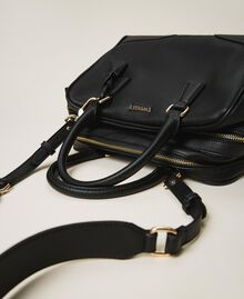 Bowler bag with dual compartment Black Woman 202TB7030-02