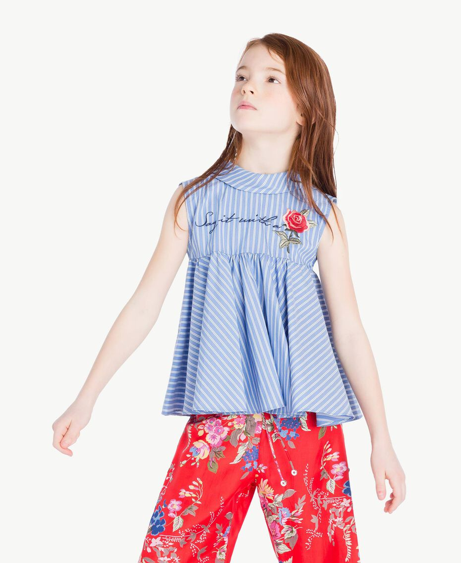 Striped top Infinite Light Blue Jacquard Child GS82LR-02