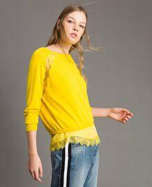 """Pullover mit Spitze und passendem Top """"Freesia"""" Gelb Frau 191MP3211-04"""