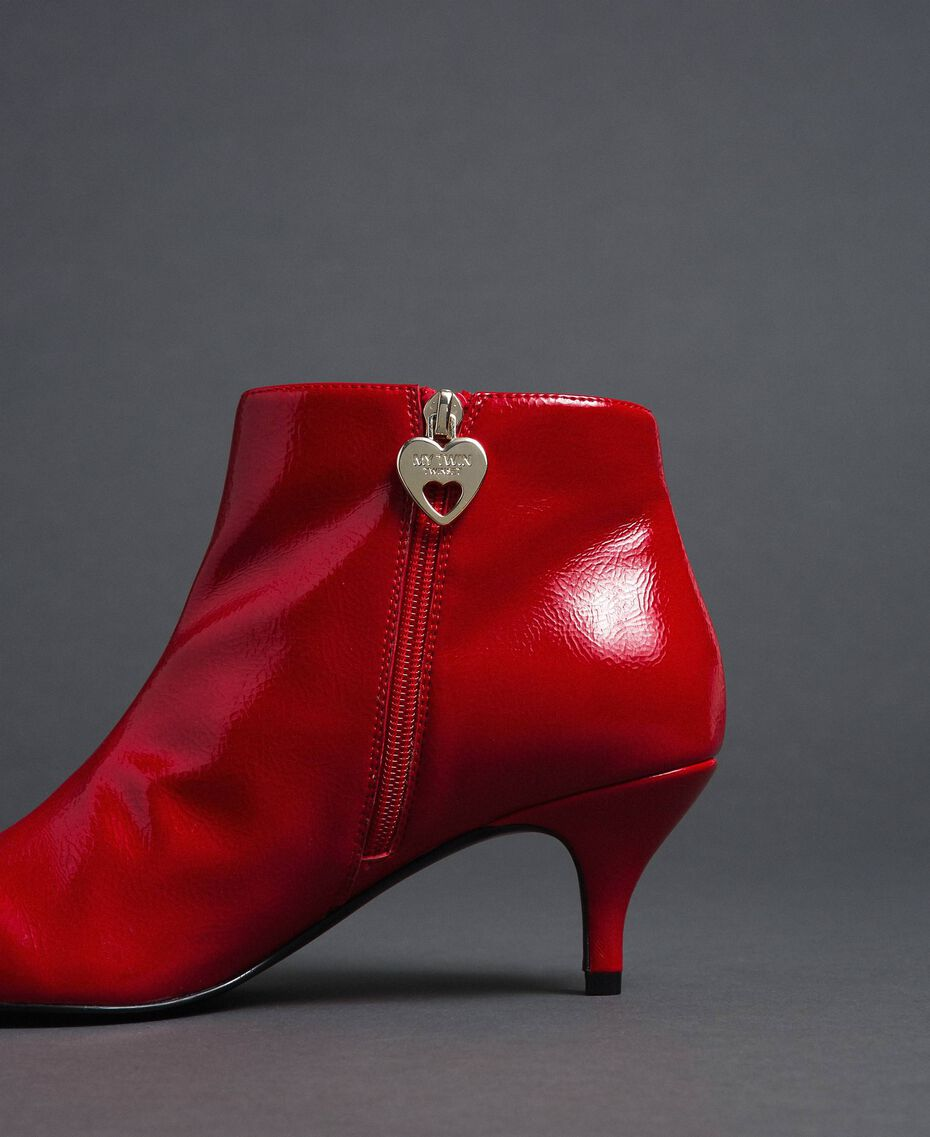 Patent leather ankle boots Poppy Red Woman 192MCT052-03