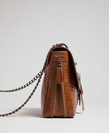 Large Rebel leather shoulder bag Leather Brown Woman 192TO823E-02