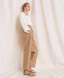 """Linen blend jumpsuit """"Dune"""" Beige Woman 201TP2253-01"""