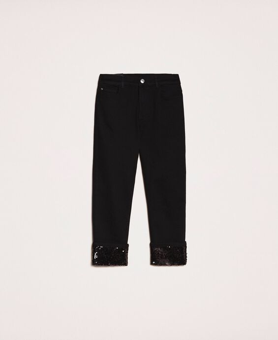 Tomboy jeans with sequins