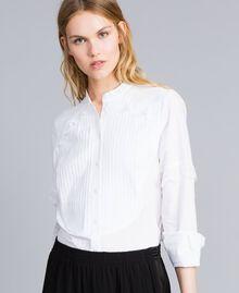 Hemd aus Baumwollpopeline Weiß Frau TA82XP-01
