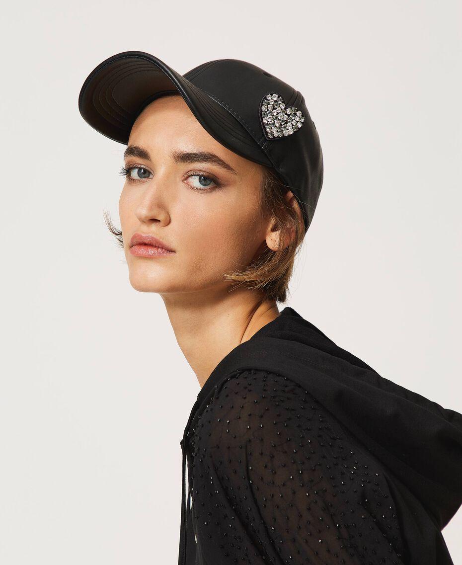Baseball cap with brooch Black Woman 202LI4ZXX-0S