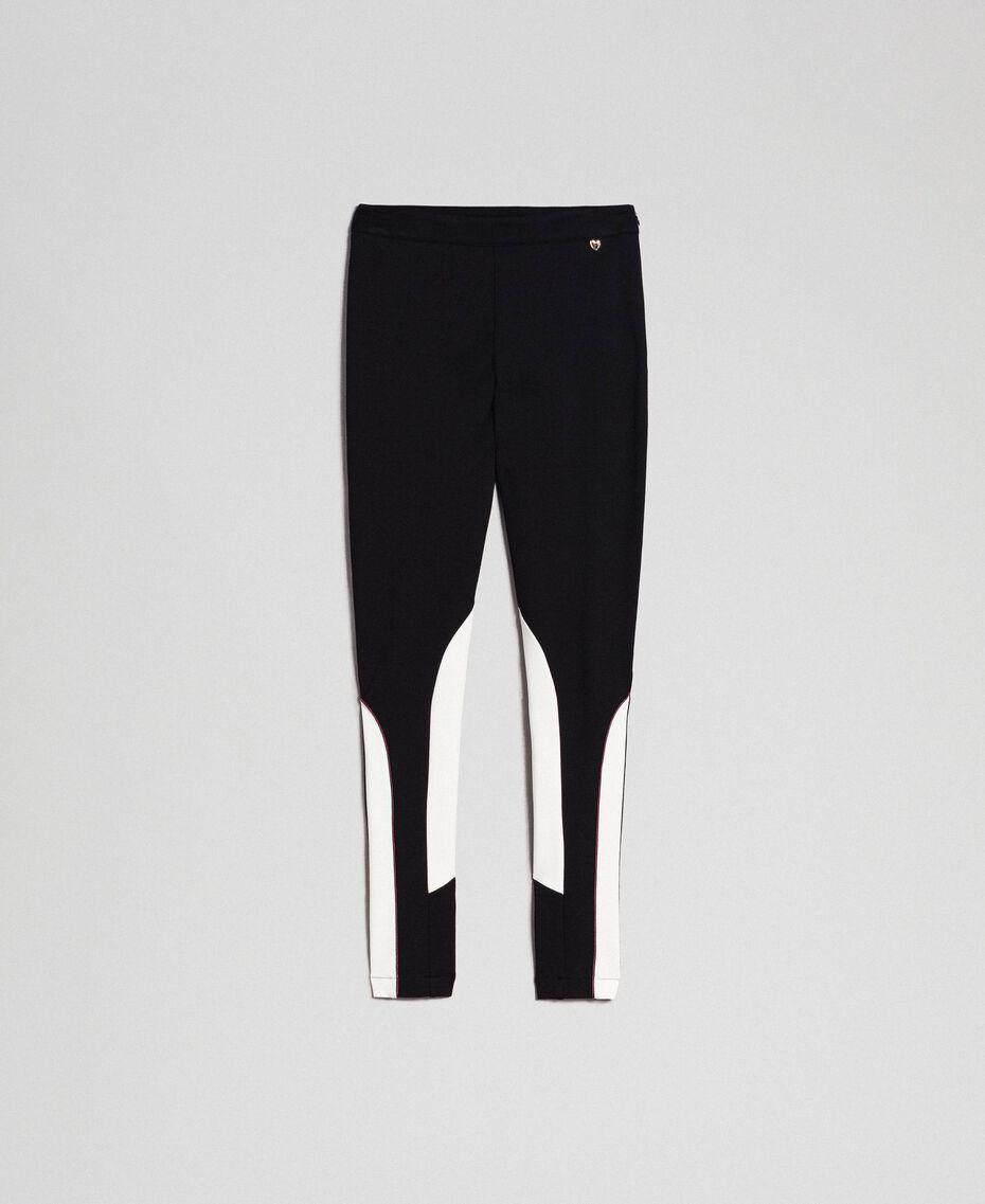 """Leggings color block Nero / Bianco """"Vaniglia"""" Donna 192MT2270-0S"""