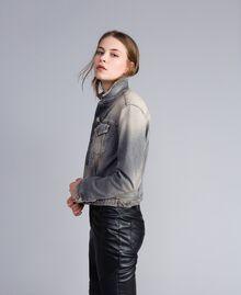 Denim jacket Grey Denim Woman JA82YC-02