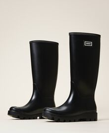 Rain boots with logo Black Woman 202TCP210-02