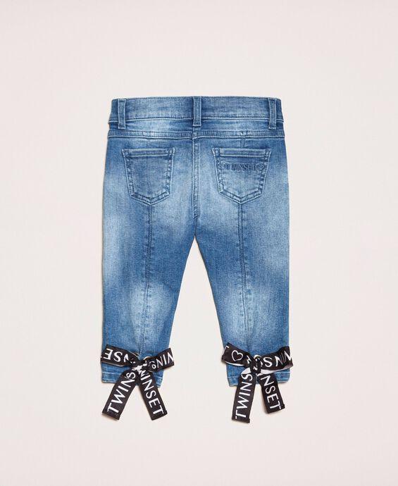 Skinny jeans with logo
