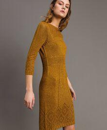 """Openwork lurex dress """"Golden Oak"""" Gold Lurex Woman 191TT3111-02"""