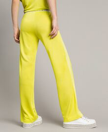 """Trousers with side bands """"Lemon Juice"""" Yellow Woman 191LL23KK-04"""