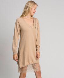 Cashmere blend maxi jumper Camel Woman 192TT3090-03
