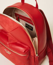 Faux leather backpack Cherry Red Woman 202MA7021-05
