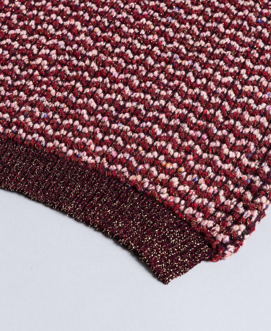Schal aus Lurexjacquard Bordeaux Frau AA8P2J-02