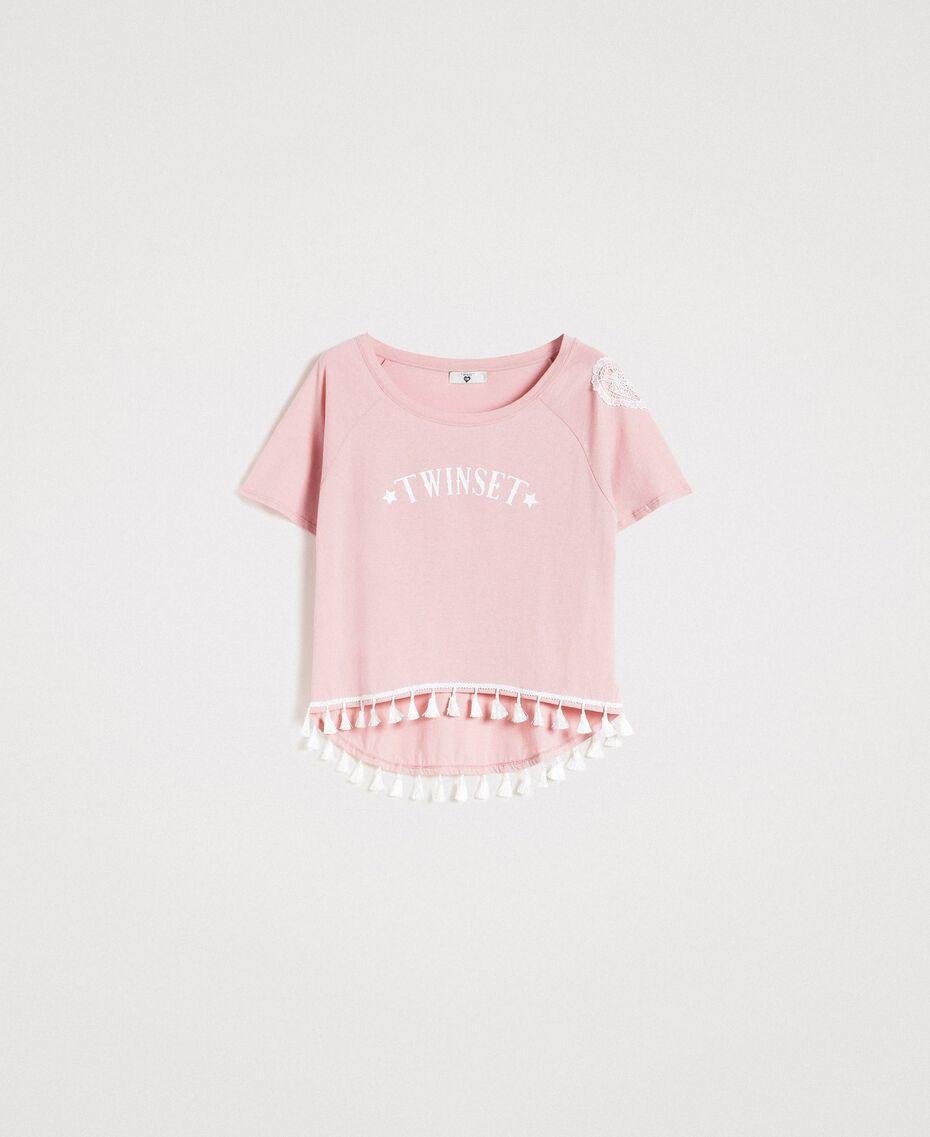 "T-Shirt mit Quasten ""Pink Bouquet"" Pink Frau 191LB2CCC-0S"