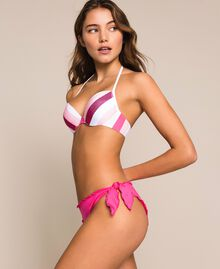 Tanga de bain à ruches Rose Shocking Pink Femme 201LMMA88-02