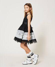 Robe en dentelle et tulle bicolore Bicolore Noir / Blanc Cassé Enfant 211GJ2Q8D-02