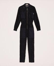 Macramé lace jumpsuit Ivory Woman 201TP2195-0S
