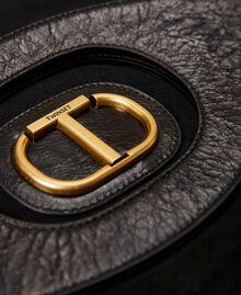Folded leather clutch Black Woman 212TB7171-04