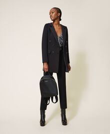 Satin Twinset Bag backpack Black Woman 202TB7201-0T