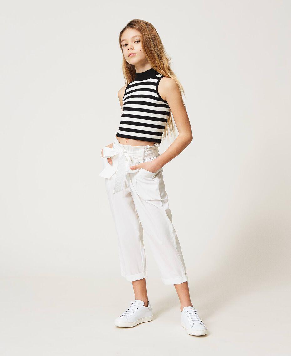 Poplin trousers Off White Child 211GJ2234-01
