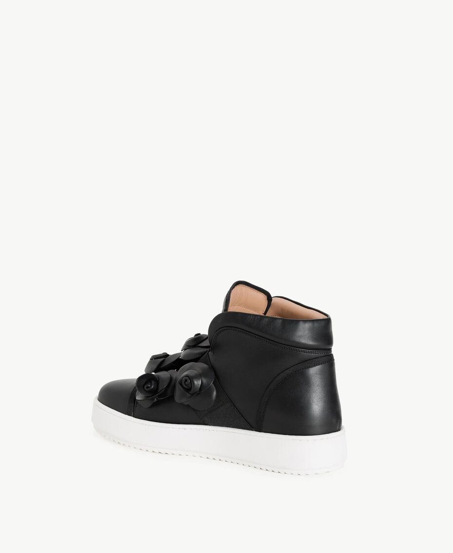 TWINSET Flower sneakers Black Woman CS8PJW-03