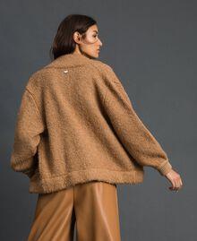 Blouson en maille bouclée Beige «Camel Skin» Femme 192LI3KDD-02