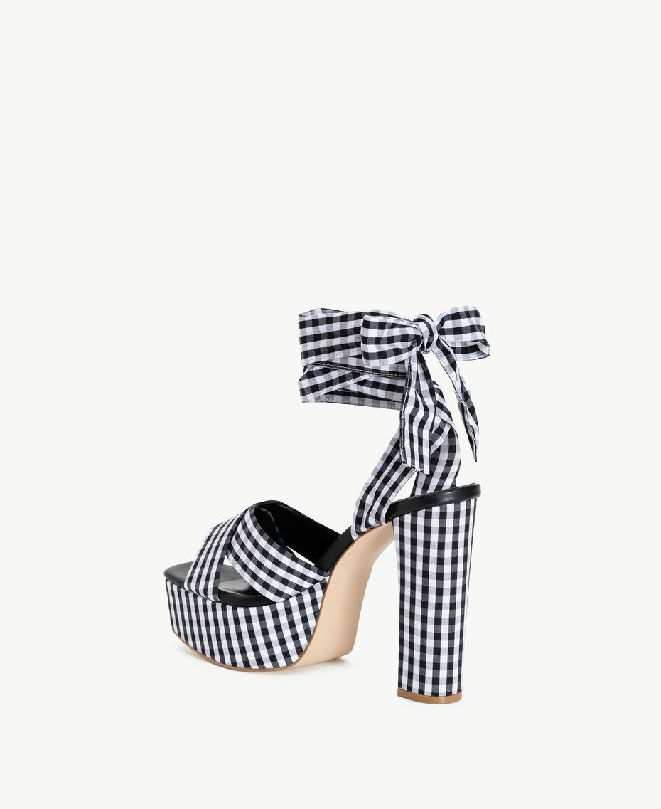 TWINSET Gingham sandals Black Woman DS8PB7-03